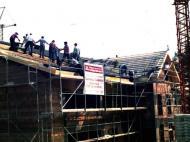 Bauarbeiten an der neuen Halle